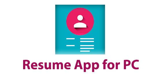 Resume App for PC