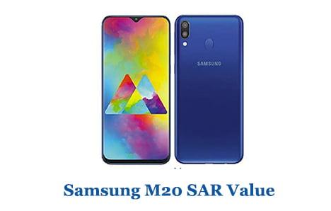 Samsung M20 SAR Value
