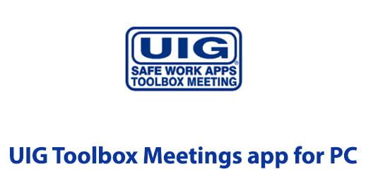 UIG Toolbox Meetings app for PC