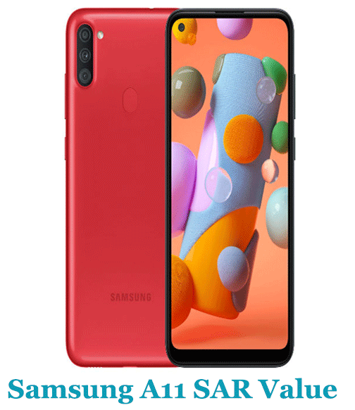 Samsung A11 SAR Value (Head and Body)