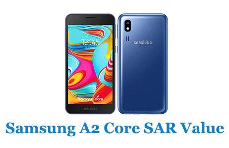 Samsung A2 Core SAR Value