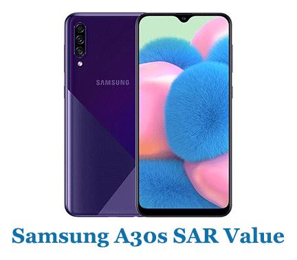 Samsung A30s SAR Value