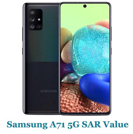 Samsung A71 5G SAR Value (Head and Body)