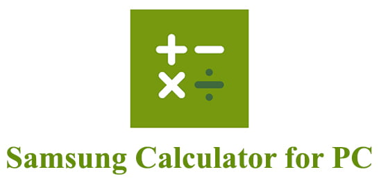 Samsung Calculator for PC