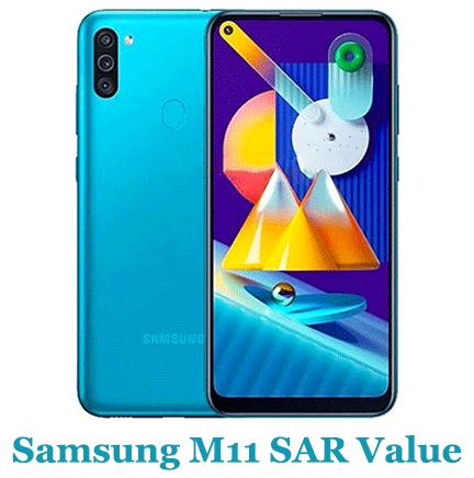 Samsung M11 SAR Value (Head and Body)