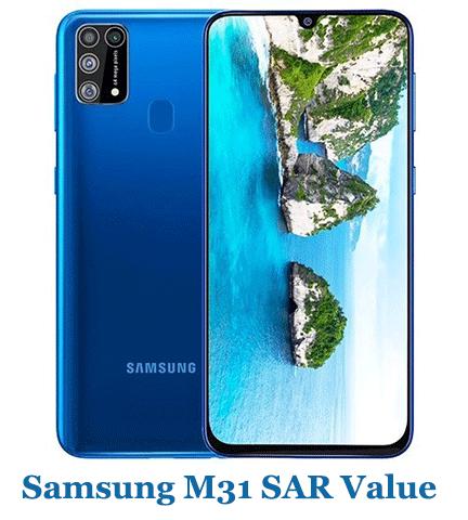 Samsung M31 SAR Value (Head and Body)
