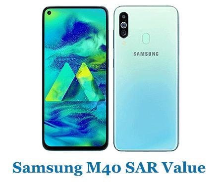 Samsung M40 SAR Value