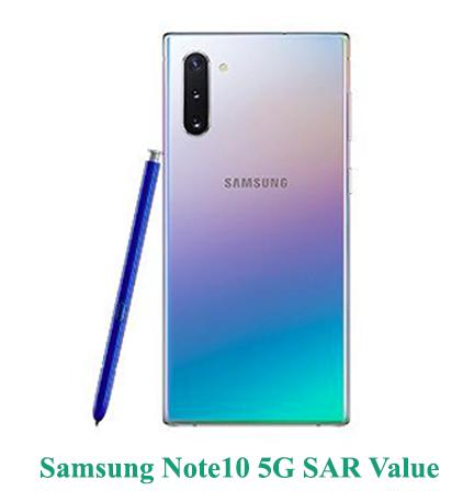 Samsung Note10 5G SAR Value