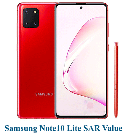 Samsung Note10 Lite SAR Value (Head and Body)