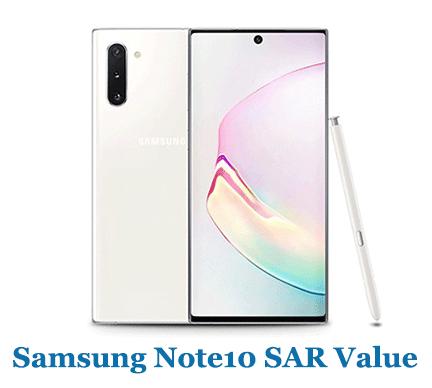 Samsung Note10 SAR Value