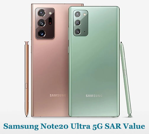 Samsung Note20 Ultra 5G SAR Value (Head and Body)