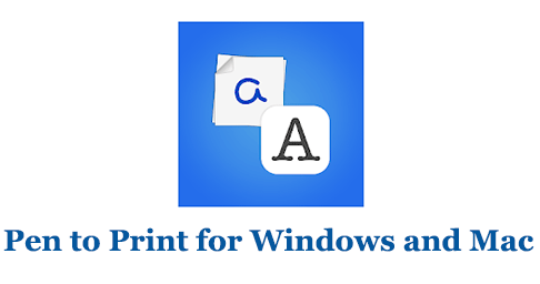 Pen to Print for Windows and Mac