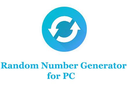Random number generator for PC (Windows and Mac)