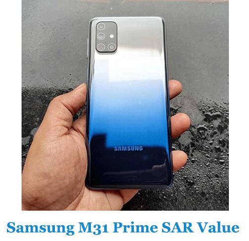 Samsung M31 Prime SAR Value (Head and Body)